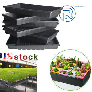 """Plant Growing Trays 10""""x 20.75""""Perfect Garden Seed Starter for Seedlings soil"""