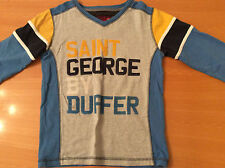 Boys long sleeve St George by Duffer coloured top 9-10 years 100% cotton