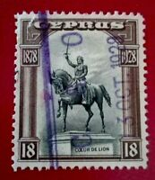 Cyprus:1928 The 50th Anniversary of the Colonies 18Pia Rare & Collectible stamp.