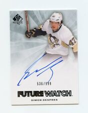 11/12 SP AUTHENTIC FUTURE WATCH ROOKIE RC AUTO #274 SIMON DESPRES 536/999 *58345