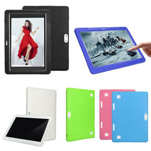 """10 10.1"""" inch Tablet Universal Shockproof Colorful Soft Silicone Back Case Cover"""