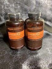 2 PACK Amazon Elements Vitamin C, VEGAN, 1000 mg Per Tablet, 300 Tabs Ea, 11/21