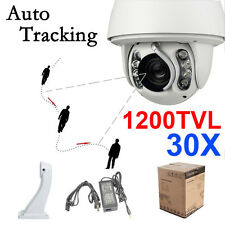 8IR 1200TVL Auto Tracking High Speed 30x Zoom 8pcs IR PTZ DOME Camera CCTV
