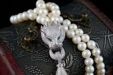 Dr.Pearl Luxury Customized Fringe Necklace with 925 Sterling Silver Ornament