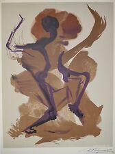 David Alfaro SIQUEIROS - Lithographie originale signée - La danse