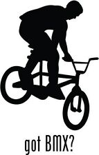 "Got BMX Biking Car Window Decor Vinyl Decal Sticker- 6"" Tall White"