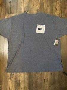 NFL Licensed Seattle Seahawks Majestic T Shirt w/ Pocket Size 5XL NEW!