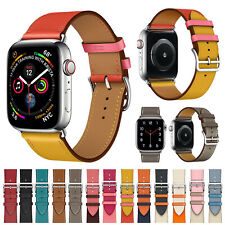 For Apple Watch Series 6 5 4 3 38/40/42/44mm Leather iWatch Band Strap Bracelet