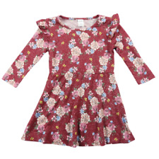 Arizona Jean Co. Multi-Color Floral Sparkle Long Sleeve Dress Girls Size XXS 4/5