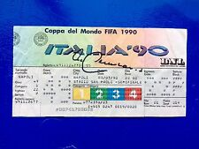 Frank Beckenbauer Hand Signed Unused Ticket Semifinal World Cup Italia 90 3-7-90