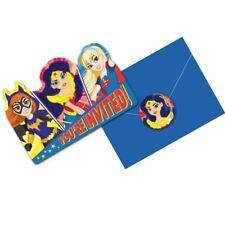 DC Super Hero Girls Invitations & Envelopes 8 Pack Birthday Party Invites