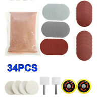 34 X Deep Scratch Remover Glass Polishing Kit 8OZ Cerium Oxide And 2'' Wheel Pad