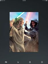 STAR WARS CARD TRADER  - FORCES OF GOOD / FORCES OF EVIL - #11 QUI-GON / MAUL