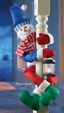 Christmas Holiday Snowman Railing or Tree Hugger