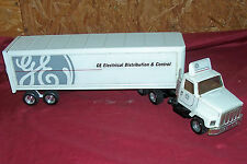 ERTL GE General Electric Toy Semi Tractor Trailer Truck Pressed Metal #3605 USA