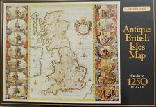 Waddingtons ANTIQUE BRITISH ISLES MAP 1250 Pieces Jigsaw Puzzle Historical 1000+