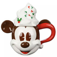 Disney Mickey Christmas Mug With Whipped Cream Top Limited Edition New Seasonal