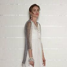 Lange Grobe Damen-Pullover & Strickware aus Baumwolle mit V-Ausschnitt