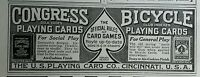 1914 U.S. Playing Card Company Congress Bicycle original advertisement print ad