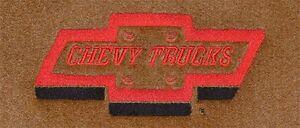 1980 81 82 83 84 85 86 Chevy Chevrolet C10 Truck Cutpile Carpet Logo Floor Mats