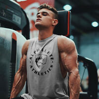 Men Fitness Bodybuilding cotton Tank Top Vest sleeveless shirt muscle undershirt