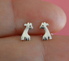 925 Sterling Silver Animal Tiny Giraffe Stud Post Children Kid Earrings Jewelry