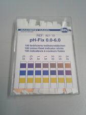 pH Paper Indicator Strips, Special Range 0-6