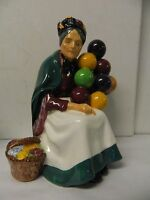 Royal Doulton The Old Balloon Seller Lady Figurine, Old Mark England