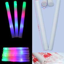 Light-Up Foam Sticks LED Rally Rave Cheer Tube Soft Glow Baton Wands