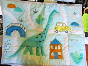 New! POTTERY BARN KIDS Dinosaur quilted Sham pillow Standard Size Cotton
