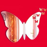 Butterflies out of Butterfly Mirror (Acrylic Mirror, Several Sizes Available)