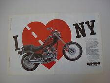 advertising Pubblicità 1989 MOTO MORINI NEW YORK
