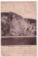 BELGIQUE - WAULSORT - LA GROTTE AUX CANARDS 1908