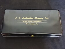 J.J. Hartenstein Metal Cash Box Mortuary Home For Funerals New Freedom Pa