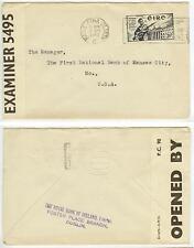 April 17 1942 Baile Atha Cliath Ireland censored cover to US - solo Sc 120