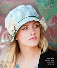 BOHO CLOCHE HAT SEWING PATTERN, From Heather Bailey Sewing Patterns, NEW
