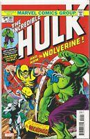 MARVEL Incredible Hulk #181 Comic 1st Appearance Wolverine Facsimile Variant NM