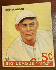1933 Goudey Roy Johnson # 8 Boston Red Sox