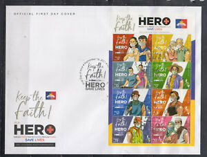 Philippine Stamps 2021 Be A Hero, Get Vaccinated Campaign, Complete set on FDC