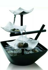 Silver Springs Indoor Relaxation Fountain, Illuminated Waterfall, Automatic Pump