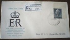 Aust 1955 REGISTERED  QUEEN ELIZABETH II 1/0-1/2d FIRST DAY COVER