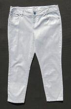 INC International Concepts Silver Stretch Denim Regular Fit Skinny Crop Jeans 12