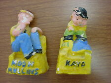 Antique Salt and Pepper Shakers Chalkware Moon Mullins and Kayo Comic Book