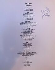 Krewella Signed Be There Lyric Sheet