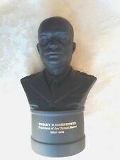 New ListingLarge Vintage Wedgwood Black Basalt Bust Of President Dwight Eisenhower
