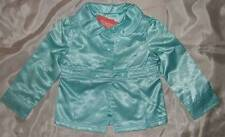 NWT GYMBOREE ~ FASHION FLOWER aqua satin jacket ~ girls 3 3T