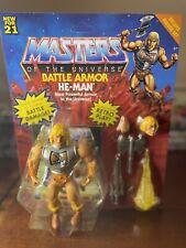 Masters of the Universe Origins Battle Armor He-Man Action Figure 2021 Mattel