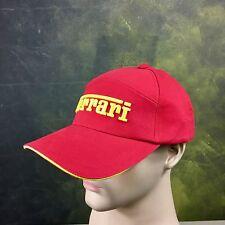 Ferrari Officially Lisenced Formula 1 Racing Hat Cap 100% Cotton NWT