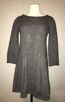 French Connection Gray A-Line Sweater Dress, Size 10 US/14 UK/42 EU