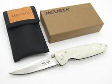 MCUSTA SEKI JAPAN BASIC MC-25 WHITE CORIAN &VG-10 LINERLOCK FOLDING POCKET KNIFE
